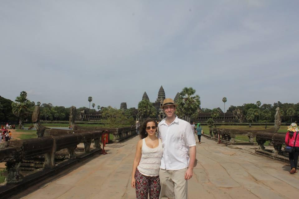 Con Laila en Angkor Wat