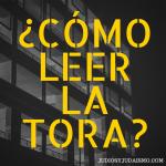¿Cómo leer la Tora?
